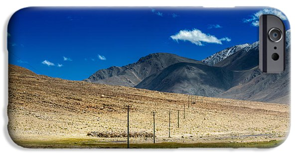 Electrical iPhone Cases - Mountains of Leh Ladakh Jammu and Kashmir India iPhone Case by Rudra Narayan  Mitra