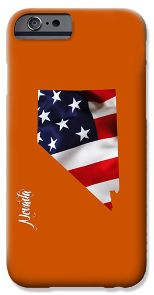 States iPhone Cases - Nevada State Map Collection iPhone Case by Marvin Blaine