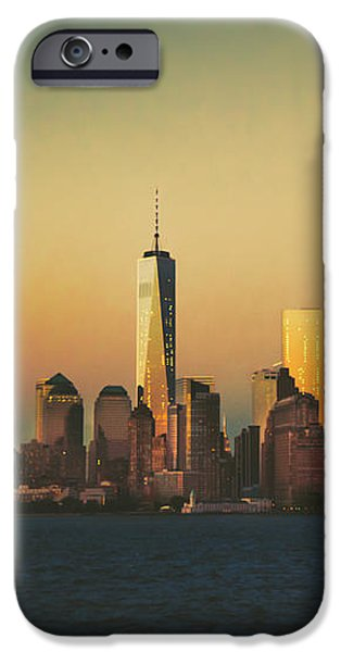Buildings iPhone Cases - New York City Skyline iPhone Case by Vivienne Gucwa