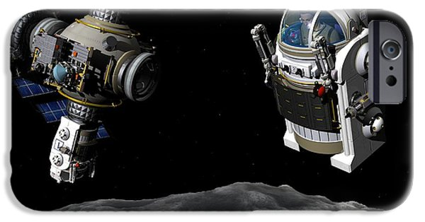Cut-outs iPhone Cases - Next Generation Space Exploration iPhone Case by Walter Myers