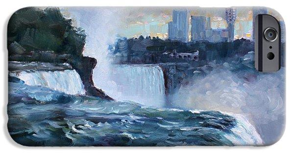 Fall iPhone Cases - Niagara Falls iPhone Case by Ylli Haruni