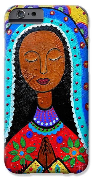 Carter iPhone Cases - Our Lady Of Guadalupe iPhone Case by Pristine Cartera Turkus