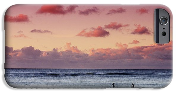 Break Fast iPhone Cases - Paddlers at Sunset iPhone Case by Vince Cavataio - Printscapes