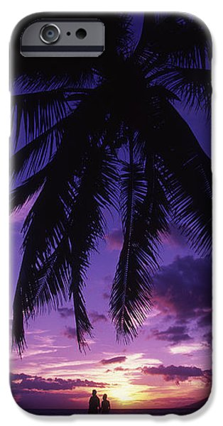 Palm Over The Beach iPhone Case by Ron Dahlquist - Printscapes