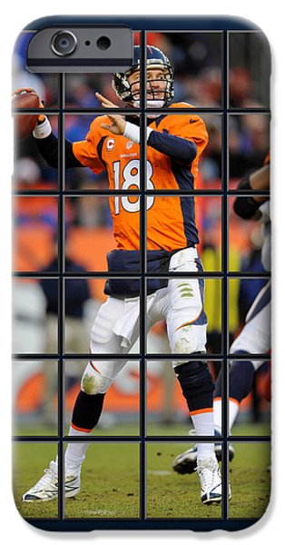 Broncos. Denver Broncos iPhone Cases - Peyton Manning Broncos iPhone Case by Joe Hamilton