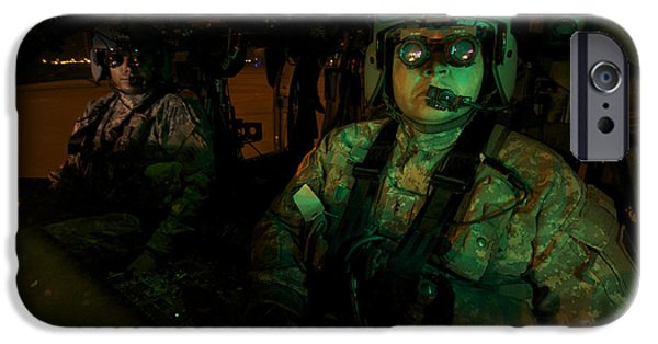 Night Angel iPhone Cases - Pilots Equipped With Night Vision iPhone Case by Terry Moore