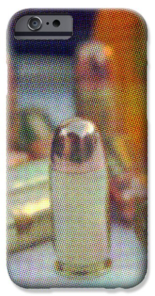Pop Art of .45 cal bullets comming out of pill bottle iPhone Case by Michael Ledray