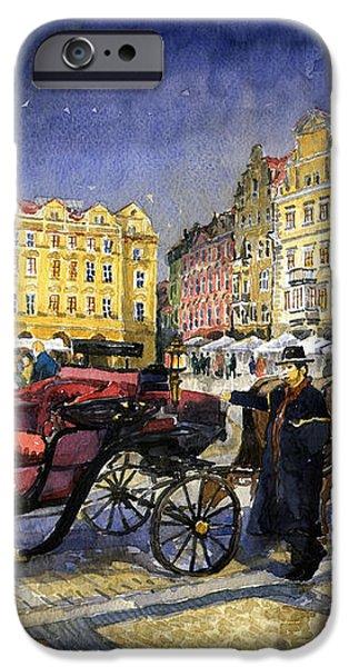 Prague Old Town Square iPhone Case by Yuriy  Shevchuk