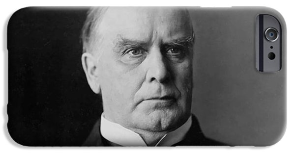 Williams iPhone Cases - President William McKinley iPhone Case by War Is Hell Store