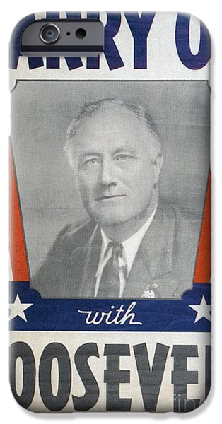 Canvassing iPhone Cases - Presidential Campaign, 1940 iPhone Case by Granger