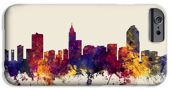 Recently Sold -  - United States iPhone Cases - Raleigh North Carolina Skyline iPhone Case by Michael Tompsett