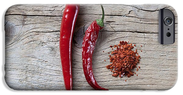 Chilli iPhone Cases - Red Chili Pepper iPhone Case by Nailia Schwarz