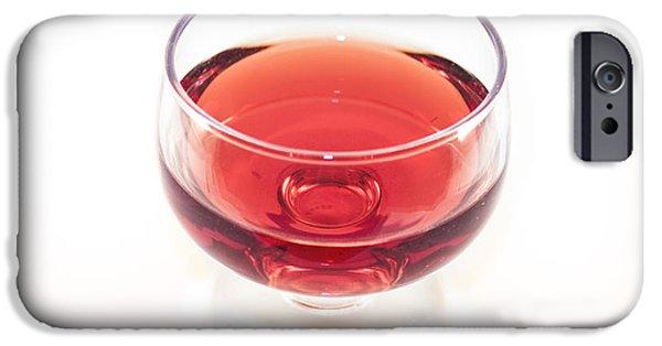 Wine Bottles iPhone Cases - Red wine vinegar iPhone Case by Daniel Ronneberg