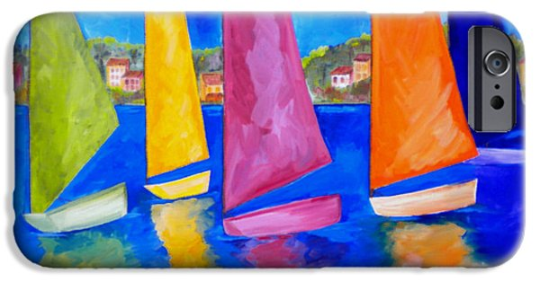 Sailing Paintings iPhone Cases - Reflections of Tortola iPhone Case by Patti Schermerhorn