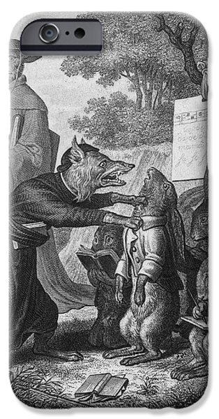 Epic iPhone Cases - Reynard The Fox, 1846 iPhone Case by Granger