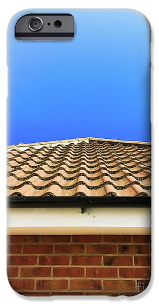 Crisis iPhone Cases - Roof tiles iPhone Case by Tom Gowanlock