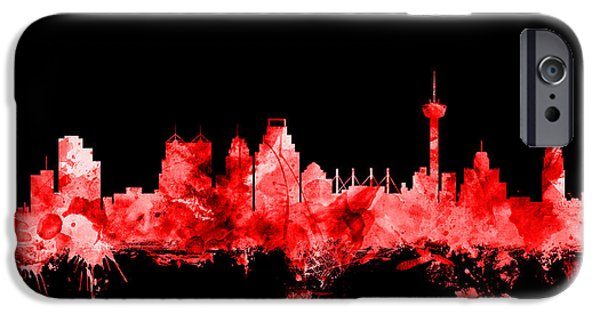 Recently Sold -  - United iPhone Cases - San Antonio Texas Skyline iPhone Case by Michael Tompsett