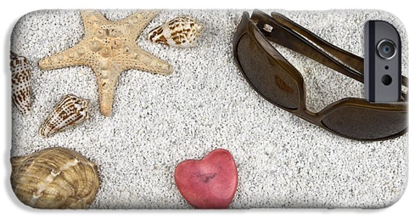 Concept Photographs iPhone Cases - Seastar And Shells iPhone Case by Joana Kruse