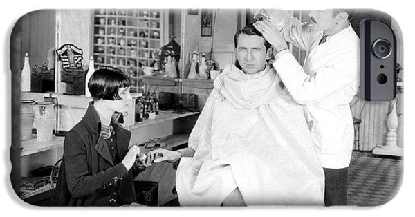 Barber iPhone Cases - Silent Still: Barber Shop iPhone Case by Granger