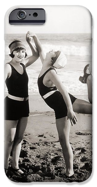 Bathing Photographs iPhone Cases - Silent Still: Bathers iPhone Case by Granger