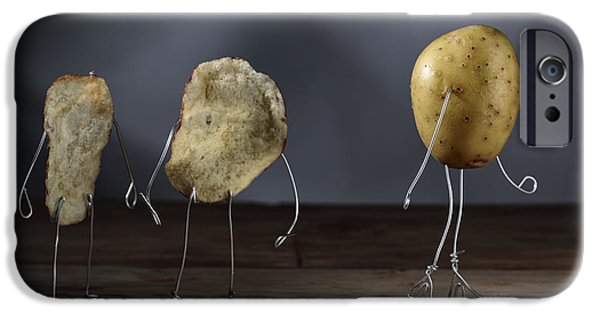Chip iPhone Cases - Simple Things - Potatoes iPhone Case by Nailia Schwarz