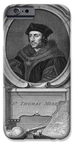 Best Sellers -  - Politician iPhone Cases - Sir Thomas More, English Statesman iPhone Case by Middle Temple Library