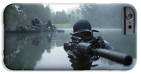 Combat iPhone Cases - Special Operations Forces Combat Diver iPhone Case by Tom Weber
