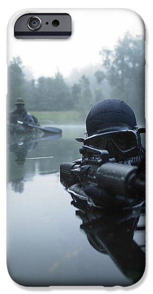 Special Operations Forces Combat Diver iPhone Case by Tom Weber