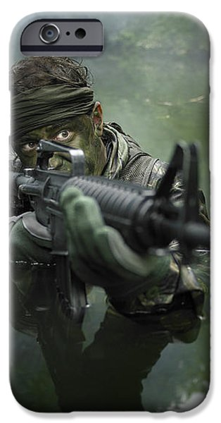 Special Operations Forces Soldier iPhone Case by Tom Weber