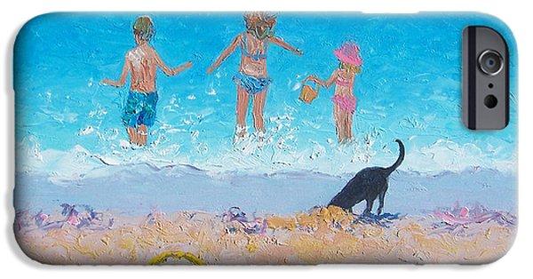 Beach Towel iPhone Cases - Splash iPhone Case by Jan Matson