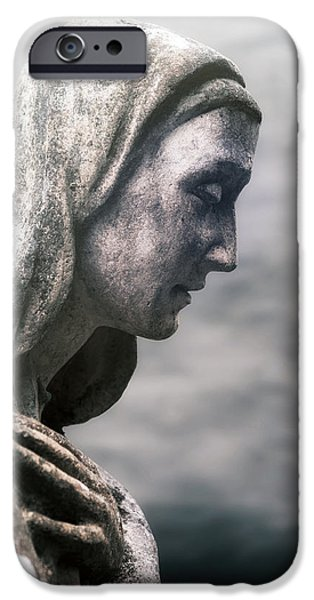 Mourning iPhone Cases - Statue iPhone Case by Joana Kruse