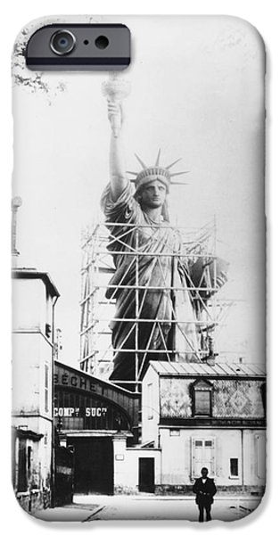 1884 iPhone Cases - Statue Of Liberty, Paris iPhone Case by Granger