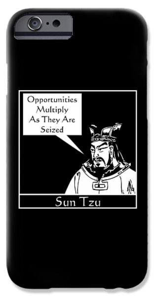 Strategy iPhone Cases - Sun Tzu iPhone Case by War Is Hell Store