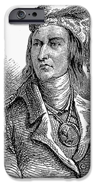 Feathered Hat iPhone Cases - Tecumseh (1768?-1813) iPhone Case by Granger