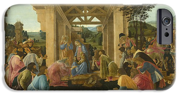 The Followers Paintings iPhone Cases - The Adoration Of The Magi iPhone Case by Sandro Botticelli