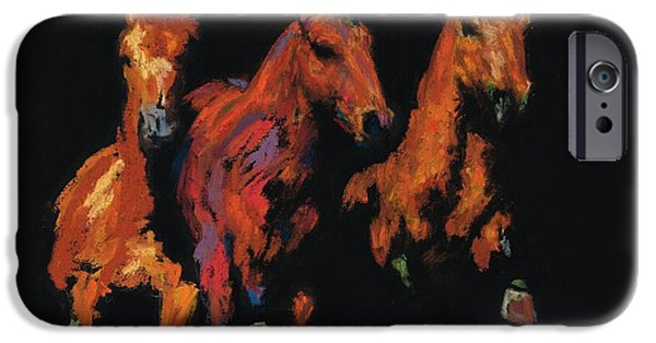 Horse Pastels iPhone Cases - The Competitive Edge iPhone Case by Frances Marino