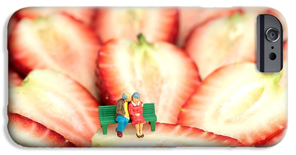 Young Digital Art iPhone Cases - The Lovers in Valentines Day iPhone Case by Paul Ge