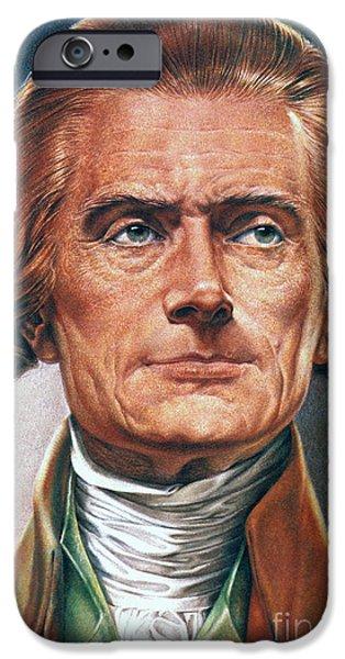 THOMAS JEFFERSON (1743-1826) iPhone Case by Granger