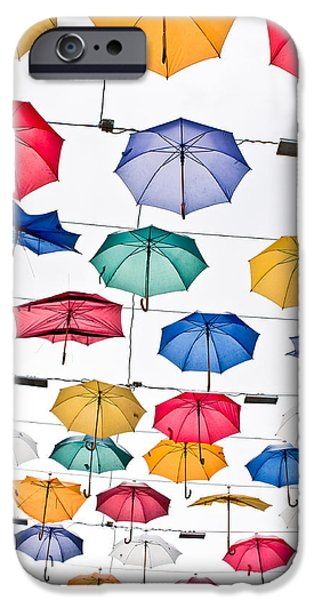 Diversity iPhone Cases - Umbrellas iPhone Case by Tom Gowanlock