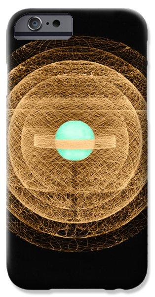 Atom Photographs iPhone Cases - Uranium-235 Atom Model iPhone Case by Science Source
