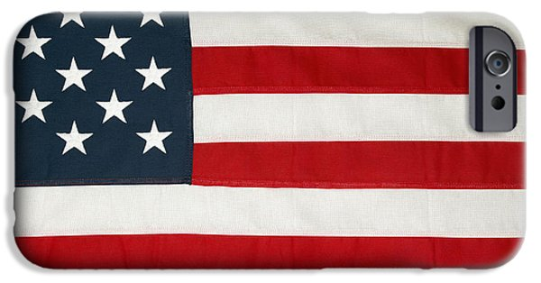 American Flag Photographs iPhone Cases - U.S. flag iPhone Case by Les Cunliffe