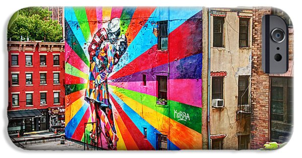 War iPhone Cases - V - J Day Mural by Eduardo Kobra iPhone Case by Allen Beatty