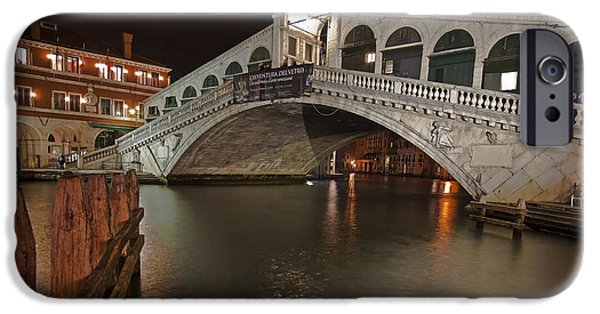 Culture iPhone Cases - Venice by night iPhone Case by Joana Kruse