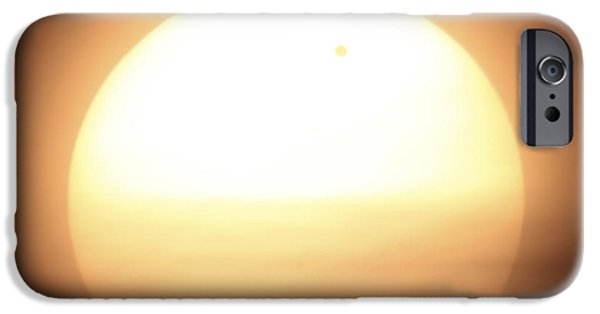 Venus iPhone Cases - Venus Transiting In Front Of The Sun iPhone Case by Fahad Sulehria