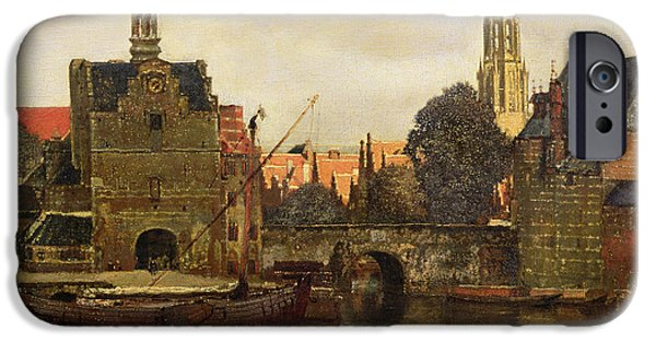 Holland Paintings iPhone Cases - View of Delft iPhone Case by Jan Vermeer