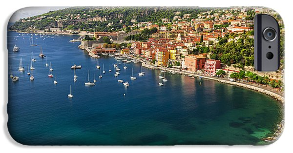Beach iPhone Cases - Villefranche-sur-Mer view on French Riviera iPhone Case by Elena Elisseeva