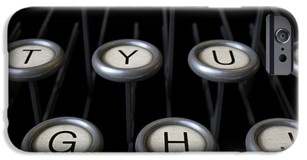 Antiquated iPhone Cases - Vintage Typewriter Keys Close Up iPhone Case by Allan Swart