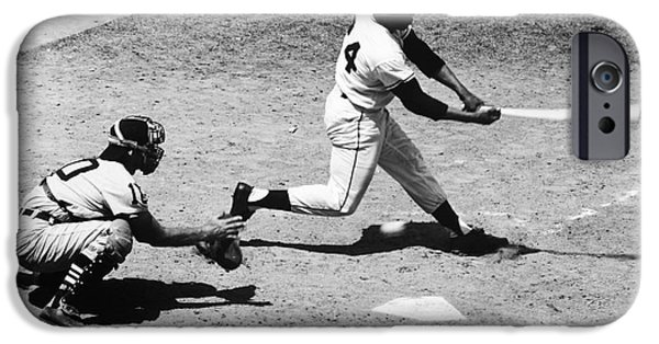 All Star Game iPhone Cases - Willie Mays (1931- ) iPhone Case by Granger