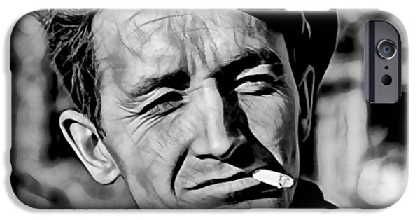Woody Guthrie iPhone Cases - Woody Guthrie Collection iPhone Case by Marvin Blaine