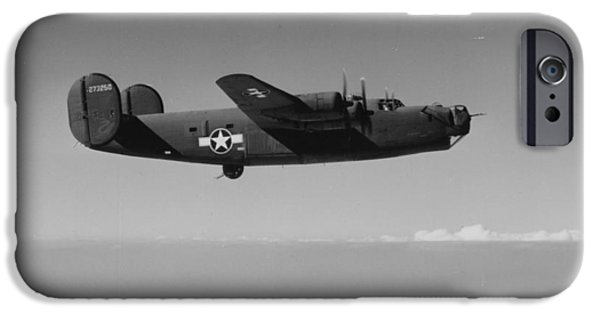 Flight iPhone Cases - WWII US Aircraft In Flight iPhone Case by American School